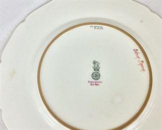 "Royal Doulton England, Tiffany & Company, New York, Antique ""Silver Bream"" Fis Plate."
