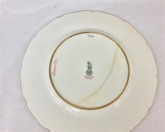 "Royal Doulton England, Tiffany & Company, New York, Antique ""American Char"" Fish Plate."