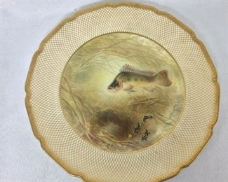 "Royal Doulton England, Tiffany & Company, New York, Antique ""Basse"" Fish Plate."