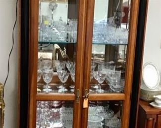 Ethen Allen Display Case full of crystal.