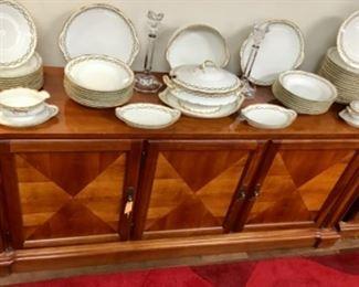 Ethen Allen Sideboard / French Porcelain China.