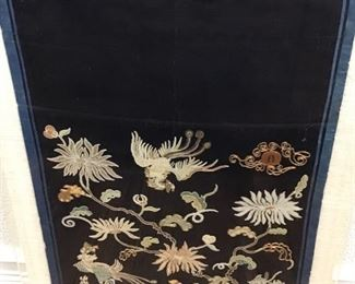 Antique Chinese Embroidery Silk