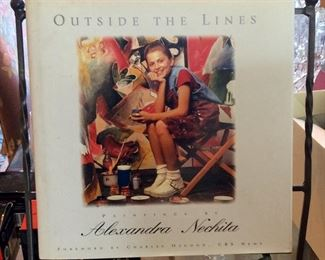 Outside The Lines: Paintings of Alexandra Nechita, Longstreet Press, 1996, First Printing, ISBN 1563523078.