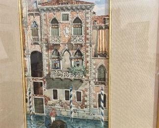 """Venice 1879, 13 1/2"""" x 19 1/2""""."""