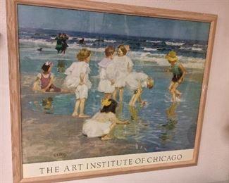 "The Art Institute of Chicago Framed Poster, 34 1/2"" x 29 1/2""."