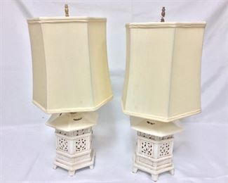 """Lamps, Made in Italy, 20"""" H."""