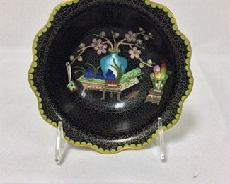 """Cloisonne Bowl, 6"""" diameter."""
