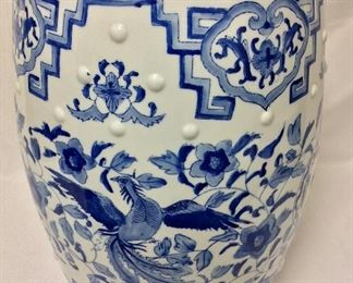 "Chinese Garden Stool, 18 1/2"" H."