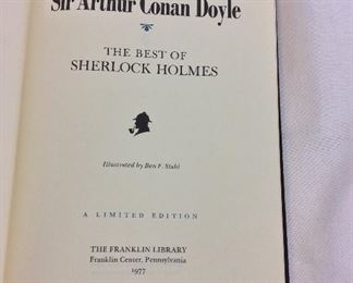 Sir Arthur Conan Doyle, The Best of Sherlock Holmes. Limited Edition This limited edition is published by The Franklin Library exclusively for subscribers to The Collected Stories of the World's Greatest Writers. Bound in Leather. Gilt Edges. Satin Page Marker.