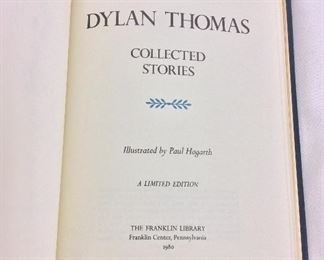 Dylan Thomas, Collected Stories. Limited Edition This limited edition is published by The Franklin Library exclusively for subscribers to The Collected Stories of the World's Greatest Writers. Bound in Leather. Gilt Edges. Satin Page Marker.