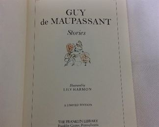 Guy de Maupassant, Stories. Limited Edition This limited edition is published by The Franklin Library exclusively for subscribers to The Collected Stories of the World's Greatest Writers. Bound in Leather. Gilt Edges. Satin Page Marker.