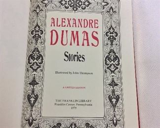 Alexandre Dumas, Stories. Limited Edition This limited edition is published by The Franklin Library exclusively for subscribers to The Collected Stories of the World's Greatest Writers. Bound in Leather. Gilt Edges. Satin Page Marker.
