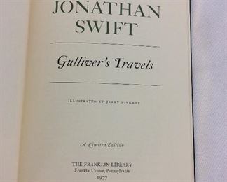 Jonathan Swift, Gulliver's Travels. Limited Edition This limited edition is published by The Franklin Library exclusively for subscribers to The Collected Stories of the World's Greatest Writers. Bound in Leather. Gilt Edges. Satin Page Marker.