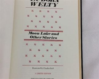 Eudora Welty, Moon Lake and Other Stories. Limited Edition This limited edition is published by The Franklin Library exclusively for subscribers to The Collected Stories of the World's Greatest Writers. Bound in Leather. Gilt Edges. Satin Page Marker.