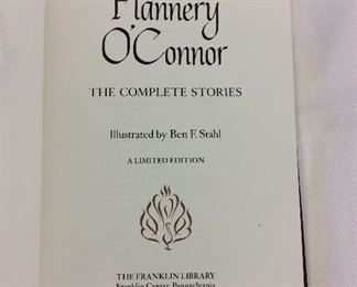 Flannery O'Connor, The Complete Stories. Limited Edition This limited edition is published by The Franklin Library exclusively for subscribers to The Collected Stories of the World's Greatest Writers. Bound in Leather. Gilt Edges. Satin Page Marker.