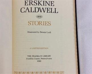 Erskine Caldwell, Stories. Limited Edition This limited edition is published by The Franklin Library exclusively for subscribers to The Collected Stories of the World's Greatest Writers. Bound in Leather. Gilt Edges. Satin Page Marker.