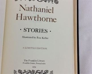 Nathaniel Hawthorne, Stories. Limited Edition This limited edition is published by The Franklin Library exclusively for subscribers to The Collected Stories of the World's Greatest Writers. Bound in Leather. Gilt Edges. Satin Page Marker.