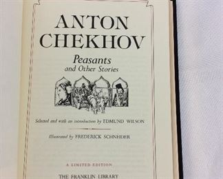 Anton Chekhov, Peasants and Other Stories. Limited Edition This limited edition is published by The Franklin Library exclusively for subscribers to The Collected Stories of the World's Greatest Writers. Bound in Leather. Gilt Edges. Satin Page Marker.