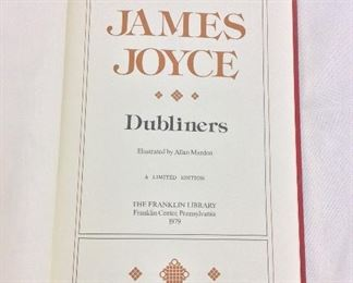 James Joyce, Dubliners. Limited Edition This limited edition is published by The Franklin Library exclusively for subscribers to The Collected Stories of the World's Greatest Writers. Bound in Leather. Gilt Edges. Satin Page Marker.