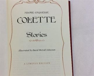 Colette, Stories. Limited Edition This limited edition is published by The Franklin Library exclusively for subscribers to The Collected Stories of the World's Greatest Writers. Bound in Leather. Gilt Edges. Satin Page Marker.