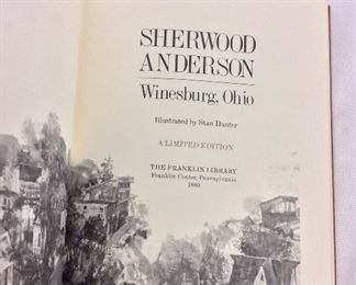 Sherwood Anderson, Winesburg, Ohio. Limited Edition This limited edition is published by The Franklin Library exclusively for subscribers to The Collected Stories of the World's Greatest Writers. Bound in Leather. Gilt Edges. Satin Page Marker.