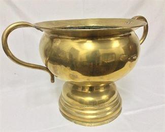 "Large Handled Brass Urn, 14"" H, 24"" W."