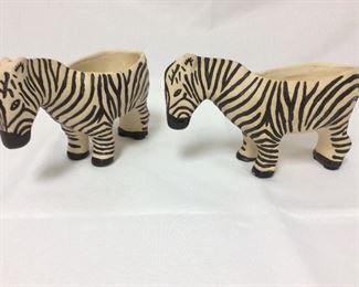 """Zebras, 9"""" L, Leah Reena Goren."""