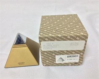 Seiko Pyramid Clock.