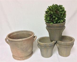 Medium and Small Flower Pots.