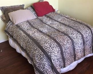 Queen Size Bed with bedding $50 OBO