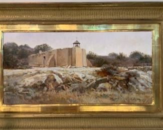 """Roy Andersen """"Mission Bell Tower"""" 12x24 - $4,800"""