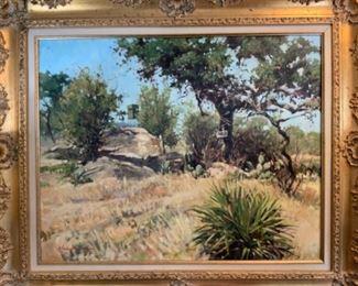 """John Austin Hanna """"Hunting Blind"""" - 24x30 - $6,500"""