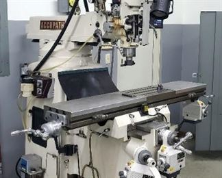 Accupath Accu II Vertical Knee Milling Machine Model # AC-3KVF, X Table Power Feed, And Newall Digital Readout
