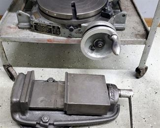"""Bridgeport 12"""" Rotary Table And Bridgeport Milling Vice"""