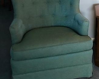 BU1005: Greenish Blue Occacional Chair #2  Local Pickup 3rd Party Shipping	 $75
