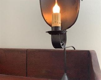 Early American Reproduction Candle Stick Wall Sconce    By Seraph ,10' X H X 8' W X 5' D.....45$