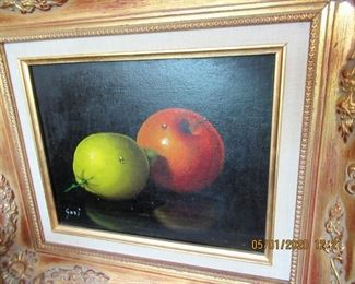 $300.00  Still life by Guri  15x14  oil on canvas