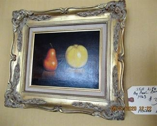 $370.00  Still life by Paul Bank  1963  15x14
