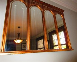 Antique Mirror In The Style Of Cathedral Windows  $545
