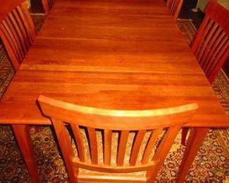 Arhaus Cherry Table  $600.                                                              Chairs (6) $850
