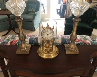 clock with glass dome - $ 50 NOW ONLY $20