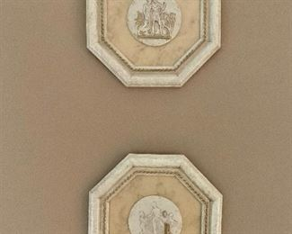 """Pair of resign wall plaques.  Width is 11.5"""" and height is 11.5"""".  PRICE for pair: $30"""