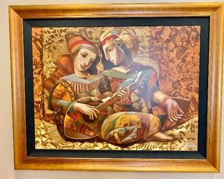 """Oleg Zhivetin.  """"Serenade 1989"""".  Limited edition giclee.  Signed lower right.  Dimensions 59"""" x 46.5"""".                         PRICE: $1295."""