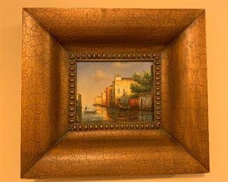 PRICE: $125.                                                                           Decorative Framed Art.
