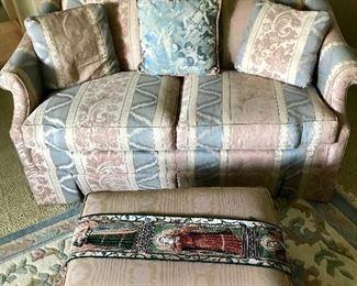Vintage Floral Sofa / Loveseat / Ottoman