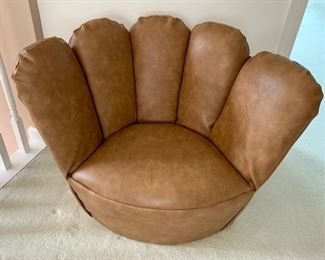 Item 19:  Child Size Baseball Glove Chair with Pocket on Back - 28 x 21 x 24: $150