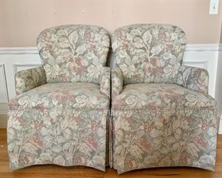 Item 41:  (2) Lineage Home Furnishings Chairs w/ Arms 24 x 16 x 37.5: $450 pair NOW $250 for PAIR!