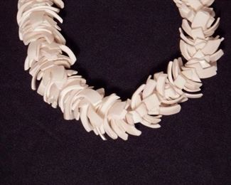"Vintage Strombus Conch Shell choker necklace.  From The Great Barrier Reef, Australia.  Coral Art by Wallace.  Length: 16.75""  Perfect condition.   $10 (was $16)"