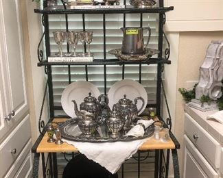 Beautiful collection of sterling and Silverplate-Reed & Barton, Tiffany & Co., JLR (Juvenile Lopez Reyers), Sheffield, Rogers, Wallace, and Lunt.