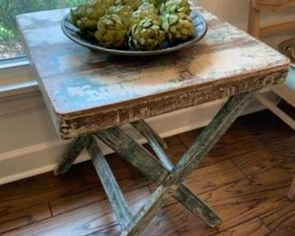 Distressed Large Tray Table $138